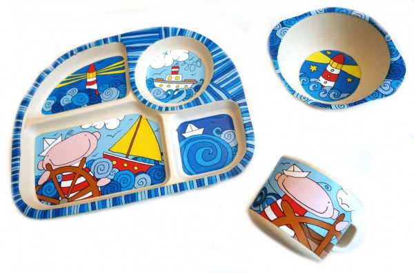 "Kinder-Set 3tlg. NATUR-DESIGN ""Nautik"" - Magu 139 970"